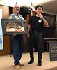 "Kevin Lee presents ""Cyerce nigricans"" nudibranch photo to Scott Warner for NOHA 2018"