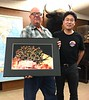 """Kevin Lee presents """"Cyerce nigricans"""" nudibranch photo to Scott Warner for NOHA 2018"""