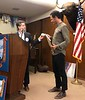 Vince Weatherby, inducts new member George Egorov