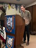 New ACLA member George Egorov addresses the club.<br /> November 1, 2018