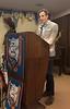 New member Jay Nunn, addresses the club.