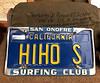 Bob Silver's license plate, donated by Eva Peel