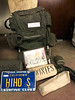 Bob Silver's Kelty backpack, license plate and other paraphernalia