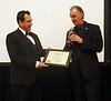 Luke Aiken, featured NOHA speaker, receives ACLA Cerificate of Appreciation from Larry Schutte.