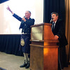 Michael Lawler and Eric Streit conduct a live auction.