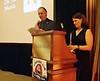 Larry Schutte introduces NOHA speaker, Dr. Laura Marsh - Houseboat Amazon.