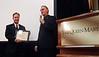 Larry Schutte presents ACLA Certificate of Appreciation to NOHA speaker, John Cruickshank - Engineer/Net Designer.