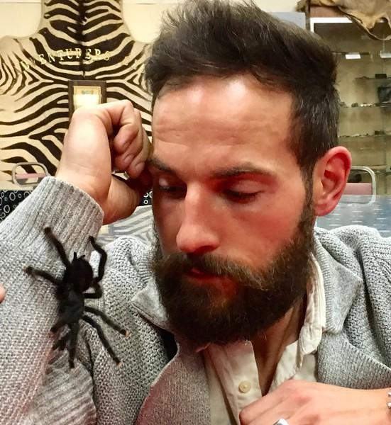Matthew with tarantula<br /> April 4, 2019