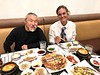 """Danee Hazama and Tahitian friend, Astrid, just returning from Peru & Bolivia, enjoying Korean victuals, after viewing """"The Lost City of the Monkey God""""."""