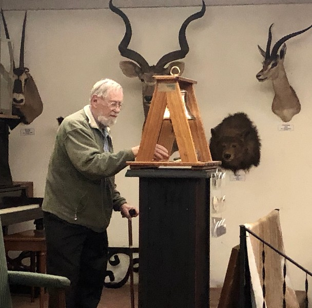 Bernie Harris rings the club bell for all absent and departed adventurers<br /> May 30, 2019