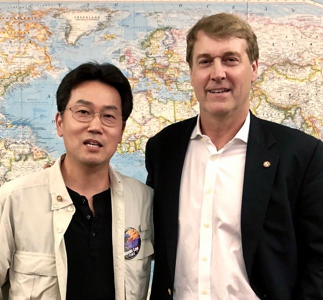 Kevin Lee ACLA/EC member, Richard Wiese, EC president<br /> May 2, 2019