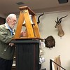 Bernie Harris rings the club bell<br /> 2nd Club Business Meeting<br /> November 7, 2019