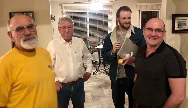 Larry, Dave, Alec & Rich<br /> November 3, 2019 Board Meeting<br /> Hosted by Larry Stern<br /> Cerritos, California