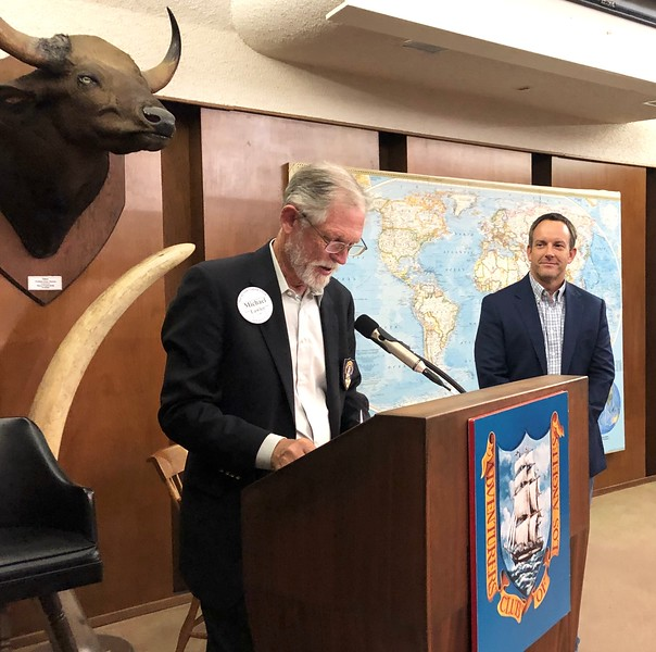 Michael Lawler inducts new member Daniel Dobson, #1216<br /> September 12, 2019