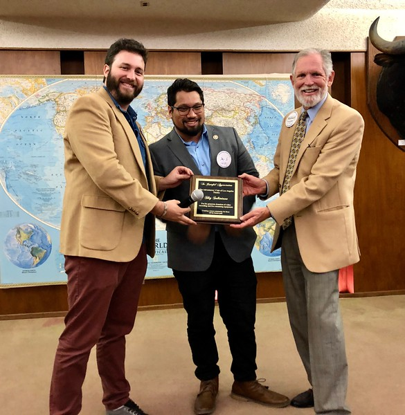 Andrew and Michael present a plaque of appreciation to Shiy Sabiniano<br /> October 17, 2019