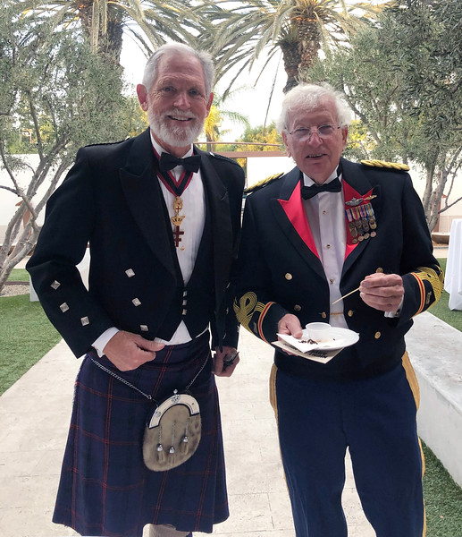 Michael Lawler & Bob Walters<br /> Night of High Adventure<br /> Bowers Museum, November 2, 2019<br /> Photo by Paul Wong