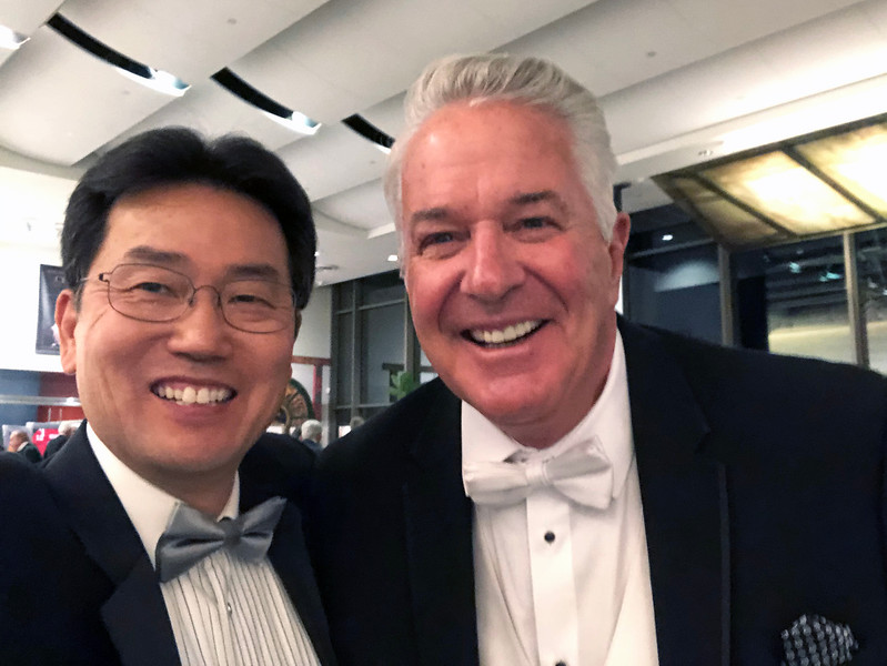 Kevin Lee with Bob Gannon<br /> Night of High Adventure<br /> Bowers Museum, November 2, 2019