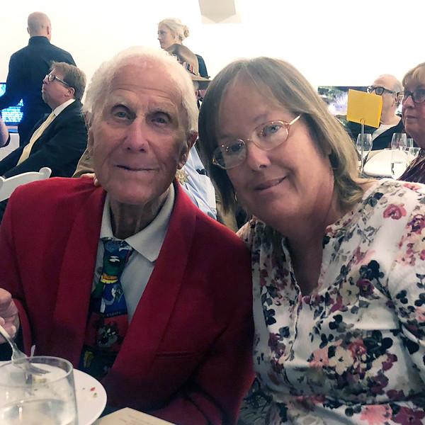 Sid Hallburn & daughter, Kathy<br /> Night of High Adventure<br /> Bowers Museum, November 2, 2019
