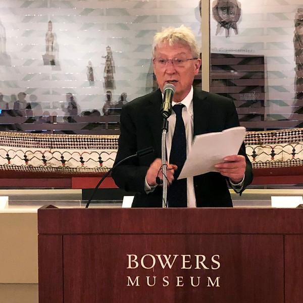 David Hayen, emcee<br /> Night of High Adventure 2019<br /> Bowers Museum, Santa Ana, California