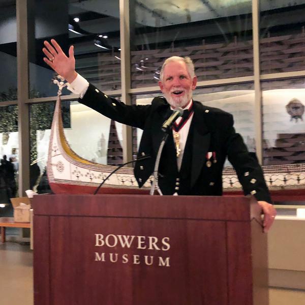 Michael Lawler, ACLA president<br /> Night of High Adventure, November 2, 2019<br /> Bowers Museum, Santa Ana, California