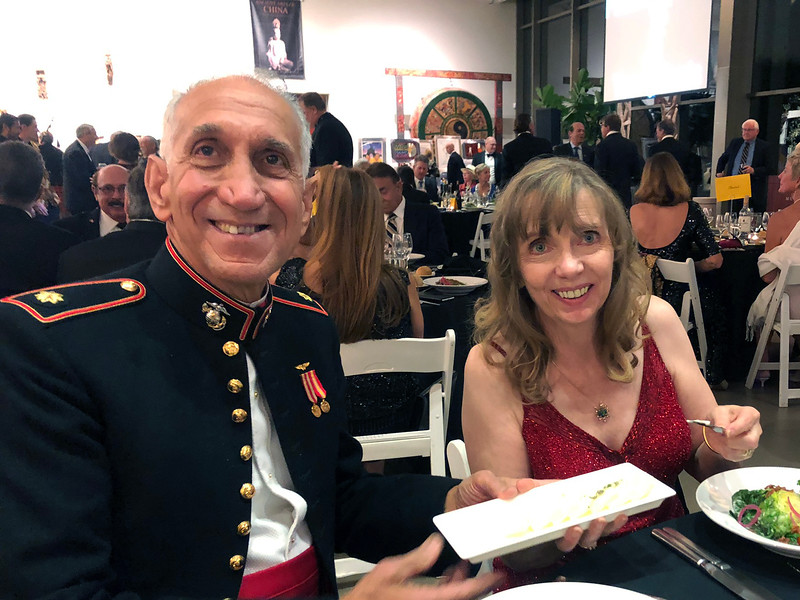Bob Iannello & wife<br /> Night of High Adventure<br /> Bowers Museum, November 2, 2019