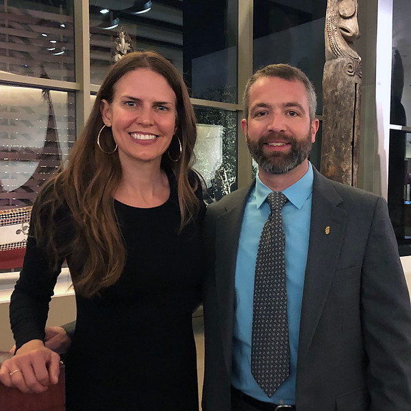 Speakers Mehgan Heaney-Grier & Brian Castner<br /> Night of High Adventure<br /> Bowers Museum, November 2, 2019
