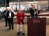 Michael Lawler, ACLA president, rings the club bell<br /> Night of High Adventure 2019<br /> Bowers Museum, Santa Ana, California