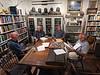 Stew, Keith, Steve & Bob<br /> Club Library<br /> August 26, 2021