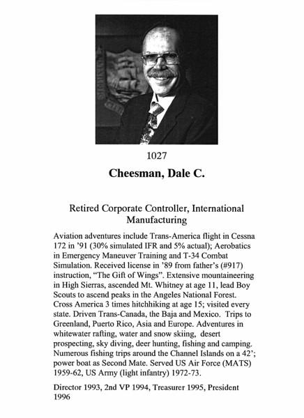 Cheesman, Dale