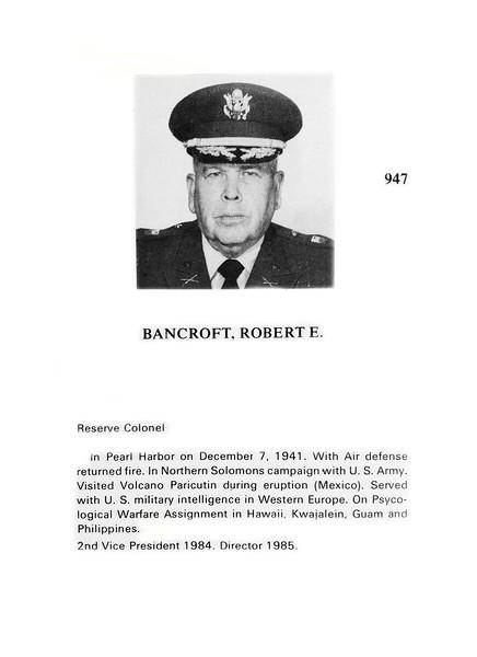 Bancroft, Robert