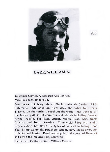 Carr, William A.