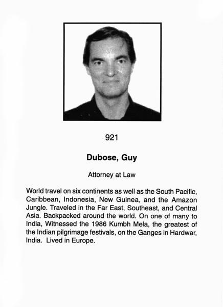 Dubose, Guy