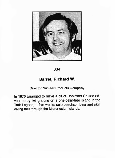 Barret, Richard W.