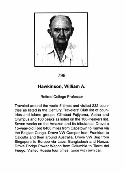 Hawkinson, William A.