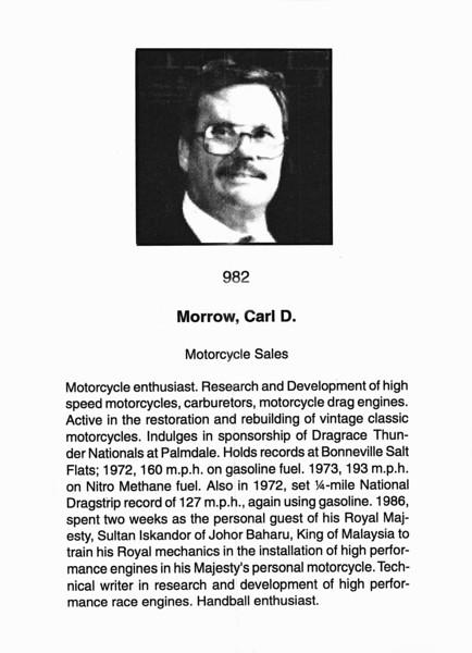 Morrow, Carl D.