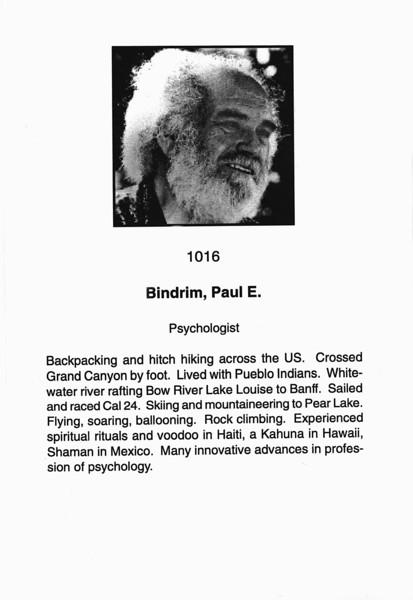 Bindrim, Paul E.