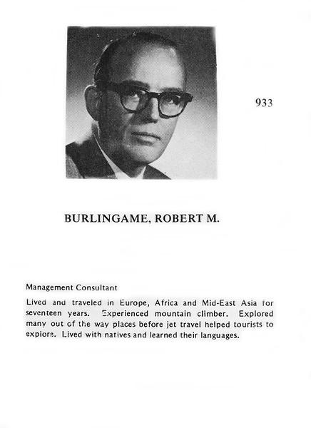 Burlingame, Robert