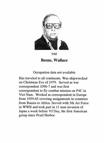 Beene, Wallace