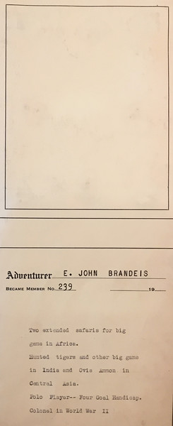 Brandeis, E. John