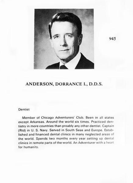 Anderson, Dorrance