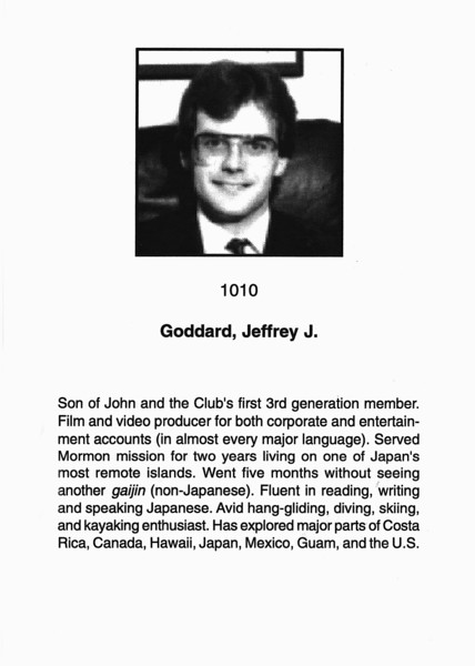Goddard, Jeffery J.