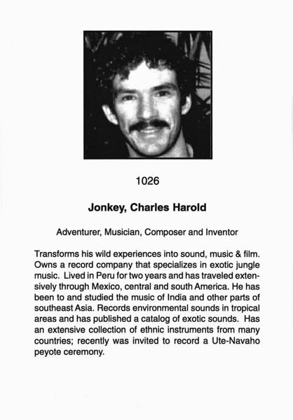 Jonkey, Charles Harold