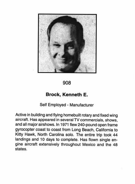 Brock, Kenneth E.