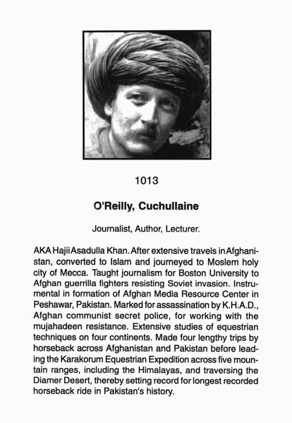 O'Reilly, Cuchuliane