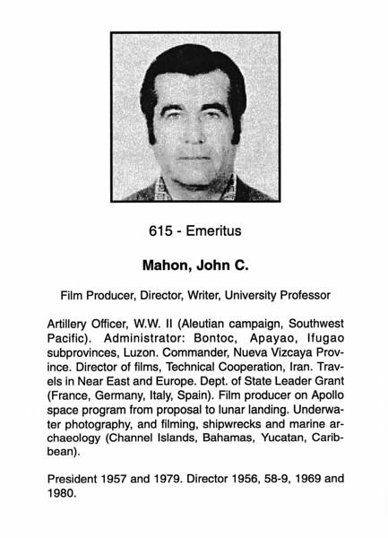Mahon, John C.