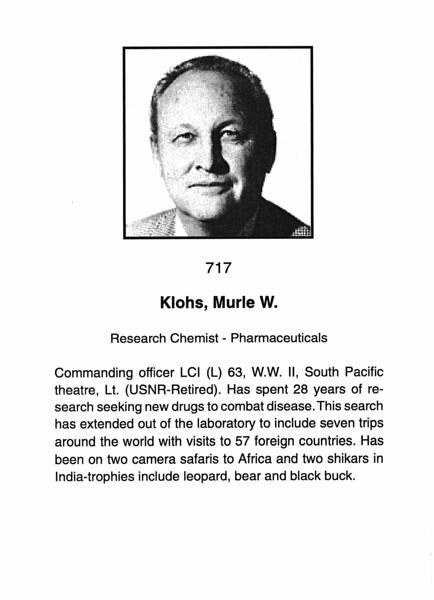 Klohs, Murle W.