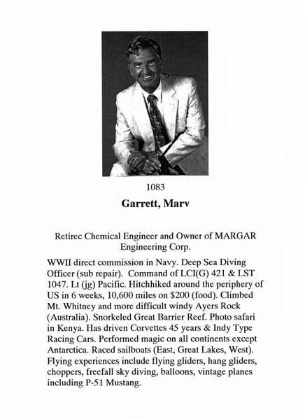 Garrett, Marv