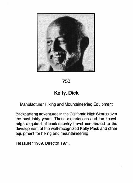 Kelty, Dick
