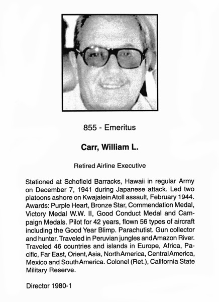 Carr, William L.
