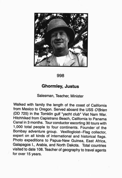 Ghormley, Justus